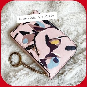 Kate Spade Cameron Paper Rose Keychain Wallet NWT